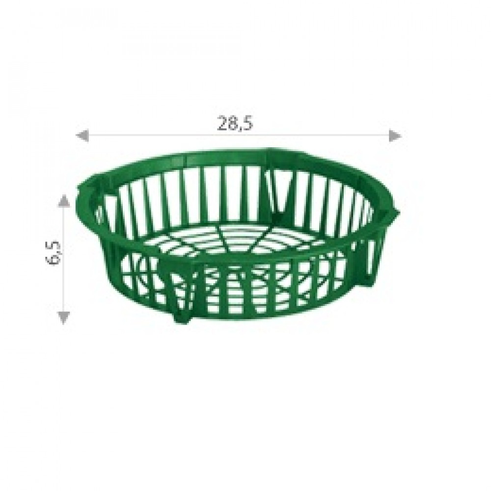 Кошик круглий для цибулин діаметр 28,5 см