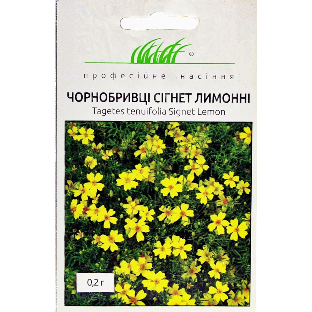 Чорнобривці Сігнет лимонні 0,2 г (насіння)