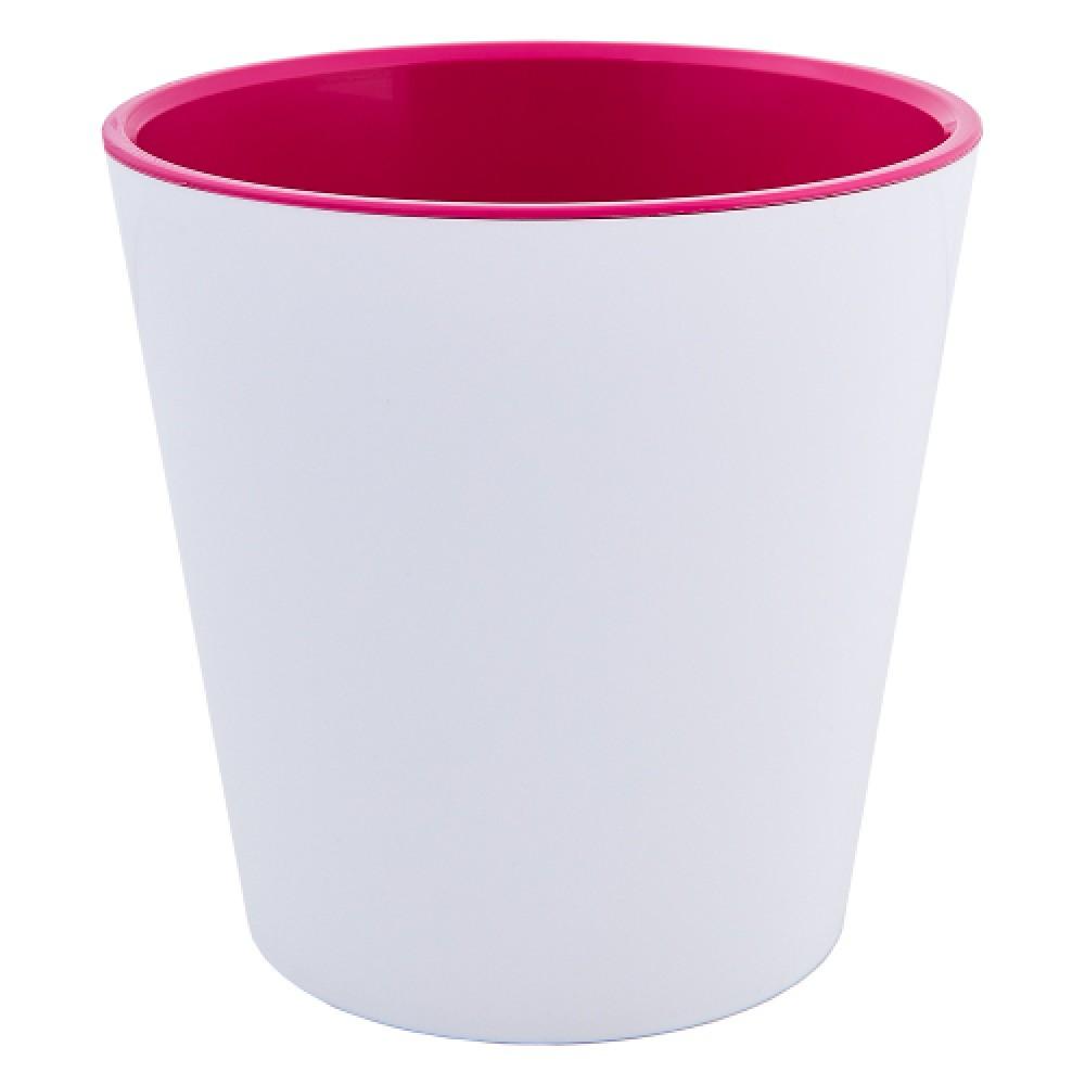 """Вазон """"Деко"""" 13*12,5 см (білий/рожевий)"""