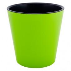 """Вазон """"Деко"""" 13 * 12,5 см (оливковый/черный)"""