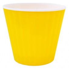 """Горшок """"Ибис"""" двойной. 13,0*11,2см. (желтый/белый)"""