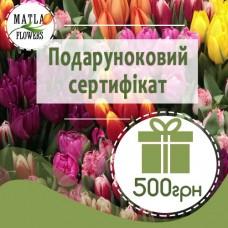 500 грн - подарунковий сертифікат