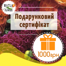 1000 грн - подарунковий сертифікат