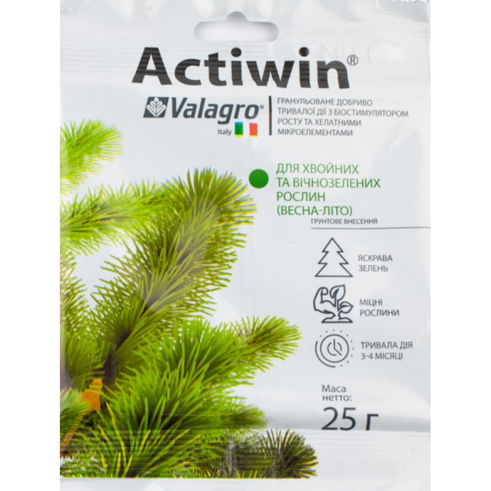 Добриво Actiwin комплексне мінеральне добриво для хвойних і вічнозелених рослин Весна-Літо 25 г