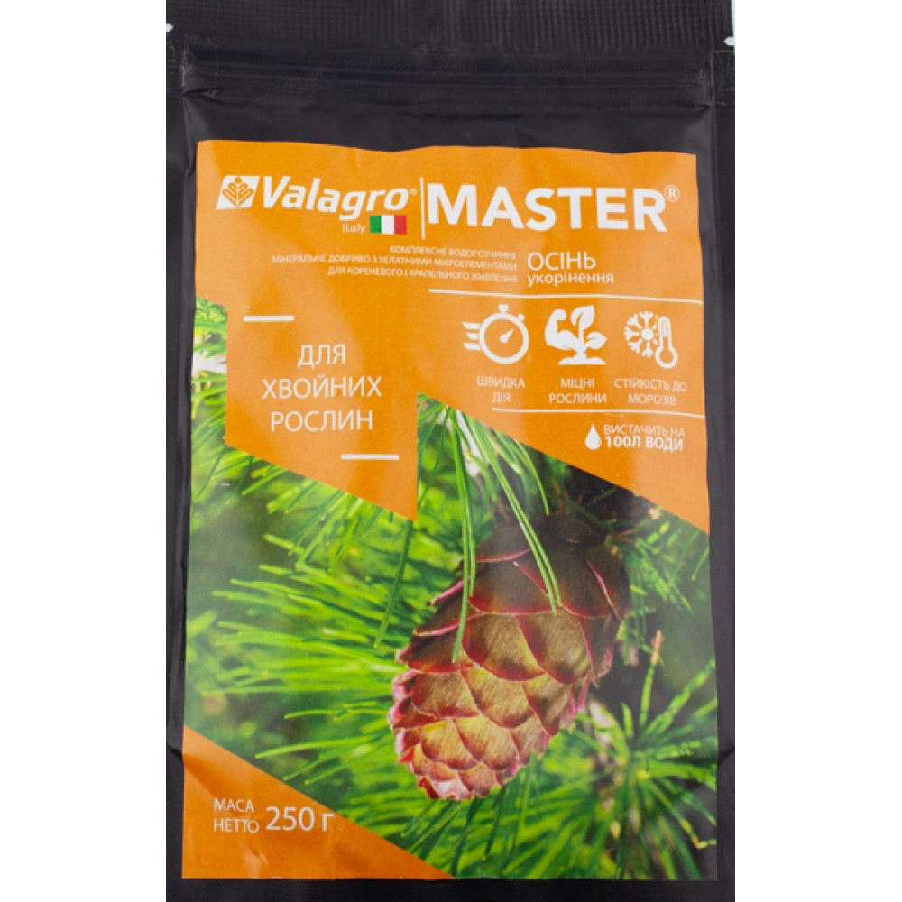 Добриво MASTER для хвойних рослин Осінь 250 г