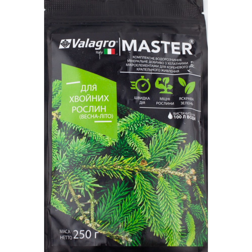 Добриво MASTER для хвойних рослин Весна-Літо 250 г