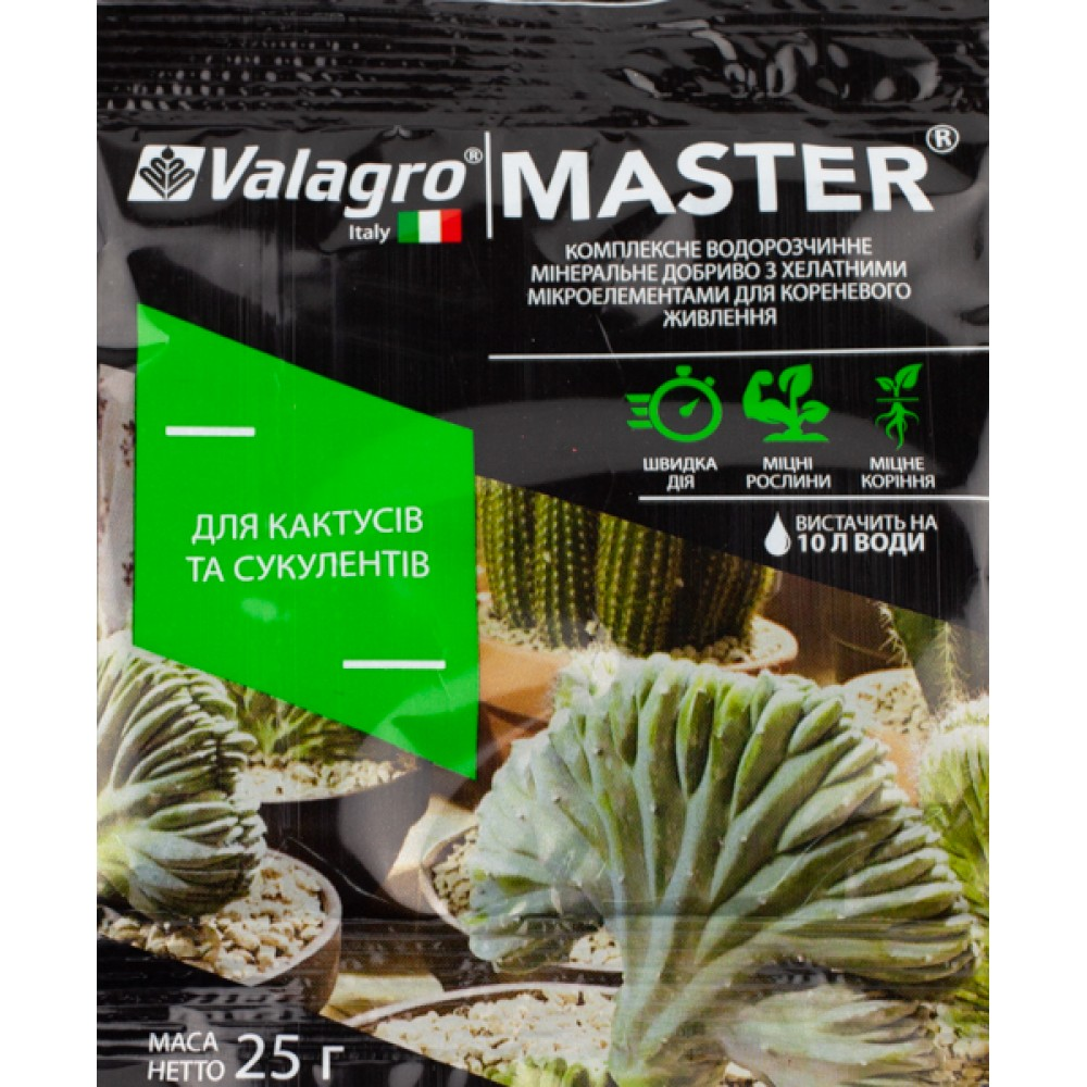 Добриво MASTER для кактусів та сукулентів 25 г