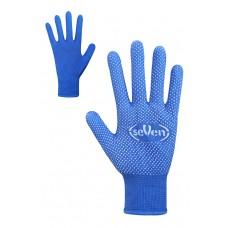 Рукавички синтетичні сині з ПВХ крапкою Розмір 9