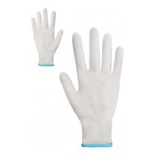 Рукавички синтетичні білі без ПВХ крапки Розмір 8