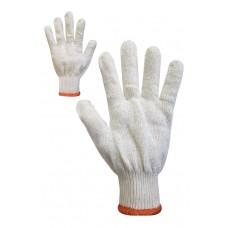 Рукавички трикотажні білі без ПВХ крапки Розмір 10