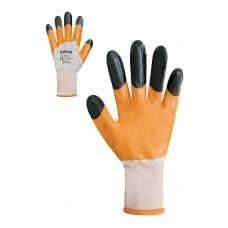 Рукавички з помаранчевим нітриловим покриттям Розмір 9