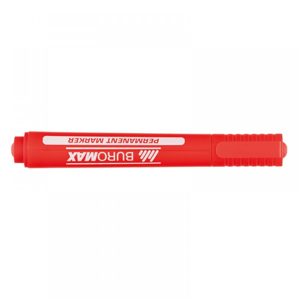 Маркер перманентний Buromax Червоний 2-4 мм